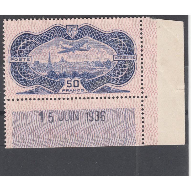 TIMBRE POSTE AERIENNE N°15 NEUF** Bord de feuille - Signé Calvès - Côte 1500 Euros