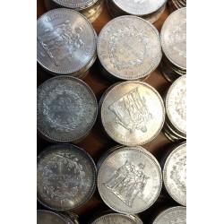 Pièces Françaises  lot de 10 pièces de 50 Francs Hercule 1974 - 1979