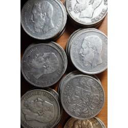 Pièces Belges lot de 4 Ecus de 5 Francs Roi des Belges