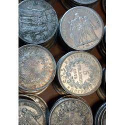 Pièces Françaises lot de 4 pièces de 50 Francs Hercule 1974 - 1980