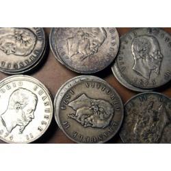 Pièces Italie lot de 4 Ecus de 5 Lire Vittorio Emmanuele II