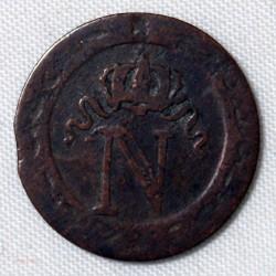 Rare Faux d' époque, 10 cent. à L'N couronné 1810 BB