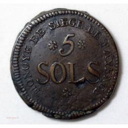 Convention - 5 Sols Siege de Mayence 1793 An 2