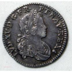 Louis XV - écu aux branches d' olivier 1731 N Montpellier