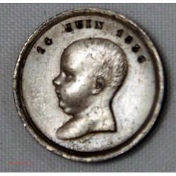 Médaille de Baptême Napoléon Bonaparte 14 Juin 1856 en Argent par Casqué