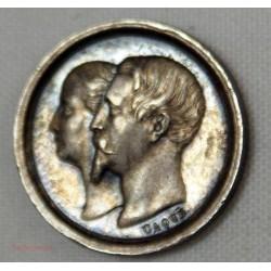 Médaille de Baptême Louis Napoléon Bonaparte 14 Juin 1856 en Argent par Casqué
