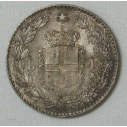 Italie - 1 lire 1887 M Umberto I, Jolie monnaie