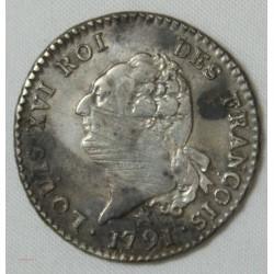 Louis XVI - 30 Sols au génie 1791 W 2ème semestre.