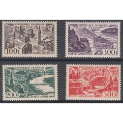 TIMBRES POSTE AERIENNE N°24 à 27 NEUFS** 1949 Côte 110 Euros