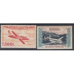 TIMBRES POSTE AERIENNE N°32 et 33 NEUF** Signés 1954 Côte 385 Euros