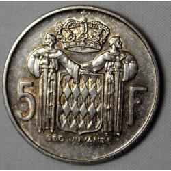MONACO - 5 Francs 1966  - RAINIER III