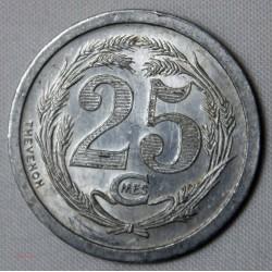 JETON Algérie - 25 cents. Chambre de commerce d' ORAN 1921