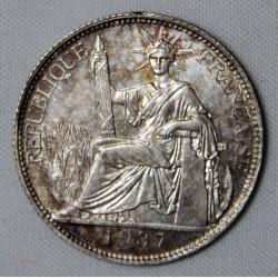 Indochine - 20 cent 1937 A Paris, argent