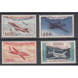 TIMBRES POSTE AERIENNE N°30 à 33 NEUFS** 1954 Côte 400 Euros