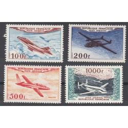 TIMBRES POSTE AERIENNE N°30 à 33 NEUFS 1954 Côte 345 Euros