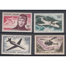 TIMBRES POSTE AERIENNE N°34 à 37 NEUFS** 1955-1959 Côte 118 Euros
