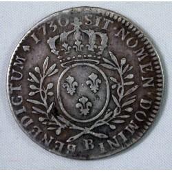 LOUIS XV - DEMI ECU 1730 B Rouen Côte 120€ en TB