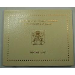 Coffret BU  VATICAN 2017 1 centime à 2 euros