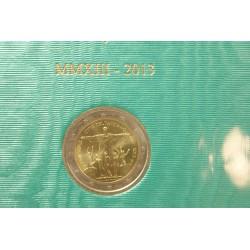 Coffret BU  VATICAN 2013 - 2 euros RIO DE JANEIRO