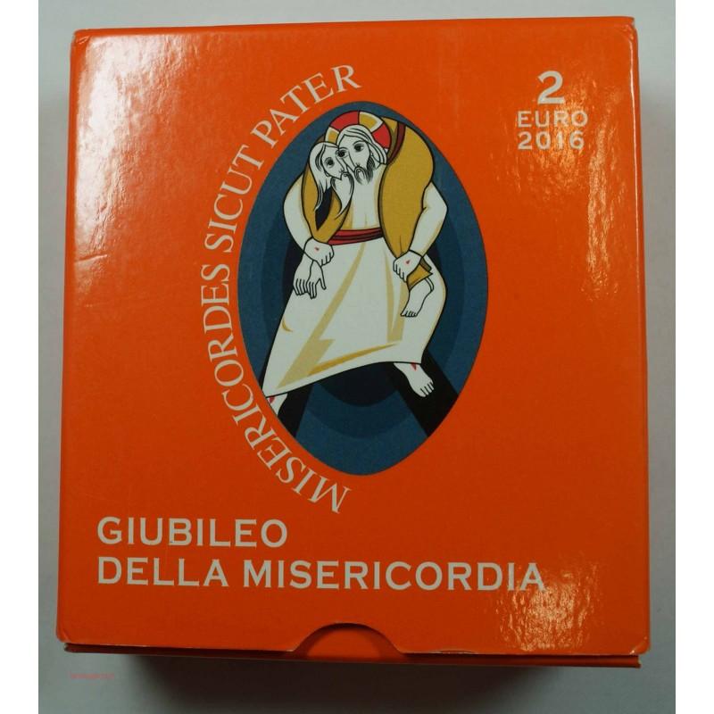 Coffret BE VATICAN 2016 - 2 euros GUIBELEO DELLA MISERICORDIA