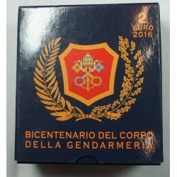 Coffret BE VATICAN 2016 - 2 euros GENDARMERIA