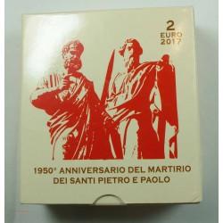Coffret BE VATICAN 2017- 2 euros SANTI PIETRO E PAOLO