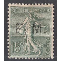 TIMBRE DE FRANCHISE 15 c. vert olive N°3 NEUF 1901-04