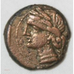 CARTHAGE - ZEUGITANIE Shekel bronze 202-146 av JC