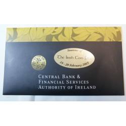 IRELAND Série euros souvenir of irish coin fair 2005
