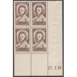 COIN DATE N° 310 Ampère 1936 NEUF** Cote 225 Euros