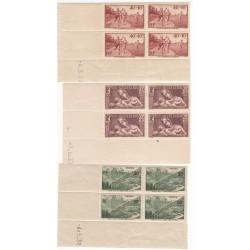 3 COINS DATES N° 346-356-358 Année 1937 NEUFS