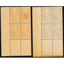 COINS DATES  N° 377- 377A  CHARCOT  1938-1939 NEUFS*