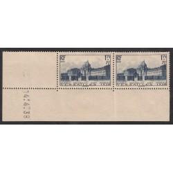 Coin daté 2 Timbres Versaille N°379  Année 1938 NEUF*