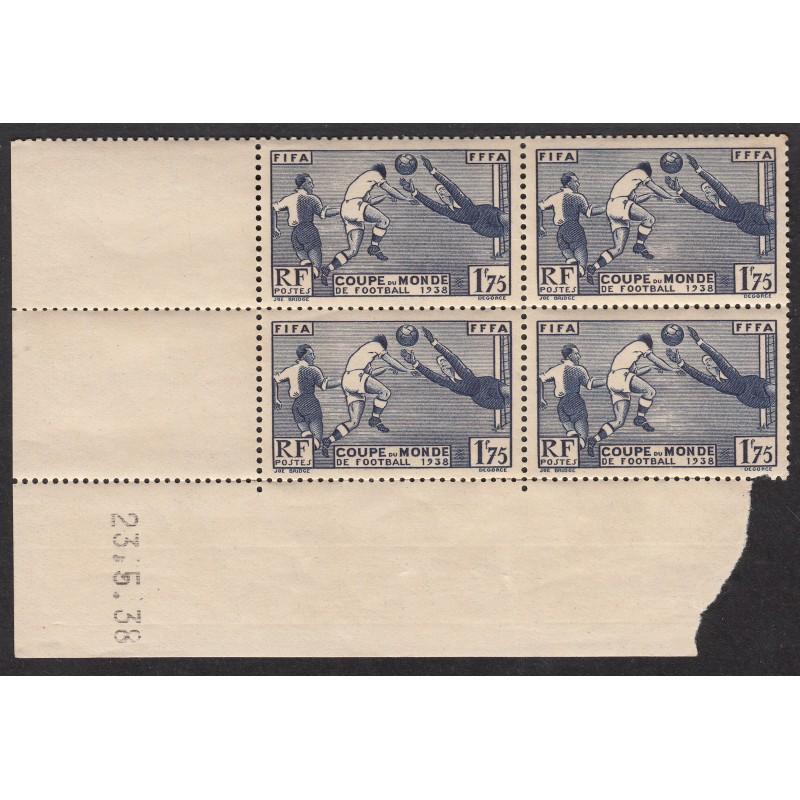 Coin daté N° 396 Football Année 1938 NEUF