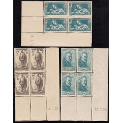 COINS DATES N° 419 à 421  Année 1939 NEUFS** Côte 183 Euros