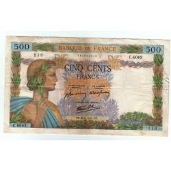 LA PAIX - 500 Francs 20-06-1942 TTB+