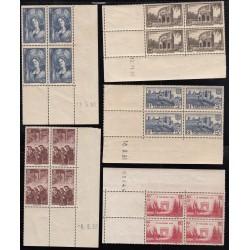 COINS DATES Année 1938 NEUFS Côte 183 Euros
