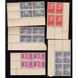 LOT 5 COINS DATES  Année 1939 NEUFS* Côte 470 Euros