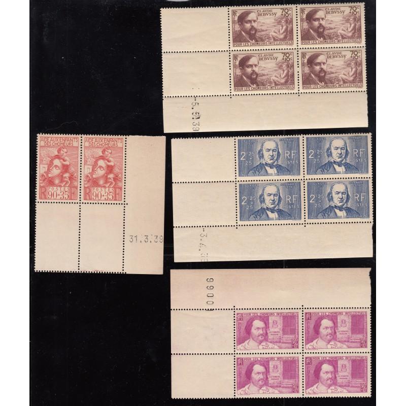 LOT COINS DATES Année 1939 NEUFS*