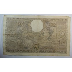 Banque BELGIQUE 100 Francs 20 Belgas 25-07-1938
