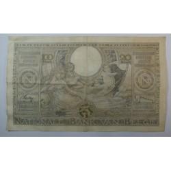Banque BELGIQUE 100 Francs 20 Belgas 20-12-1938