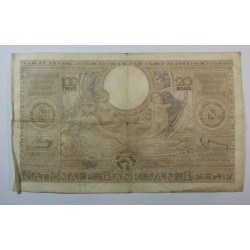 Banque BELGIQUE 100 Francs 20 Belgas 27-06-1938