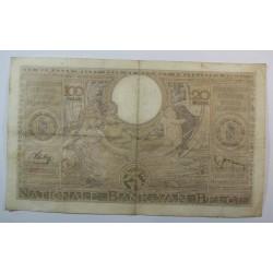 Banque BELGIQUE 100 Francs 20 Belgas 09-08-1938