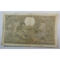 Banque BELGIQUE 100 Francs 20 Belgas 30-08-1938