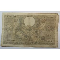 Banque BELGIQUE 100 Francs 20 Belgas 13-07-1938