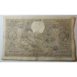 Banque BELGIQUE 100 Francs 20 Belgas 26-08-1938