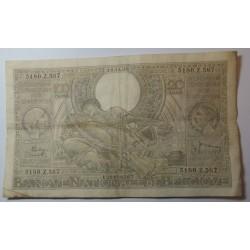 Banque BELGIQUE 100 Francs 20 Belgas 14-11-1938