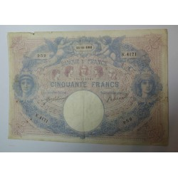 Billet de 50 FRANCS Bleu et rose 25-11-1914 Fay. 14.24