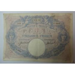 Billet de 50 FRANCS Bleu et rose 18-11-1910 Fay. 14.23