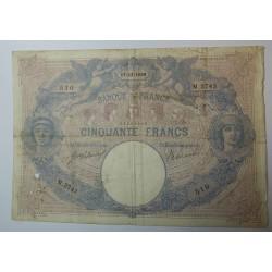 Billet de 50 FRANCS Bleu et rose 17-12-1909 Fay. 14.22